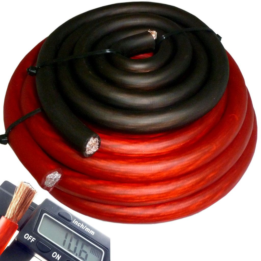 20 Ft 4 Gauge Red Car Audio Power Ground Wire Cable 20