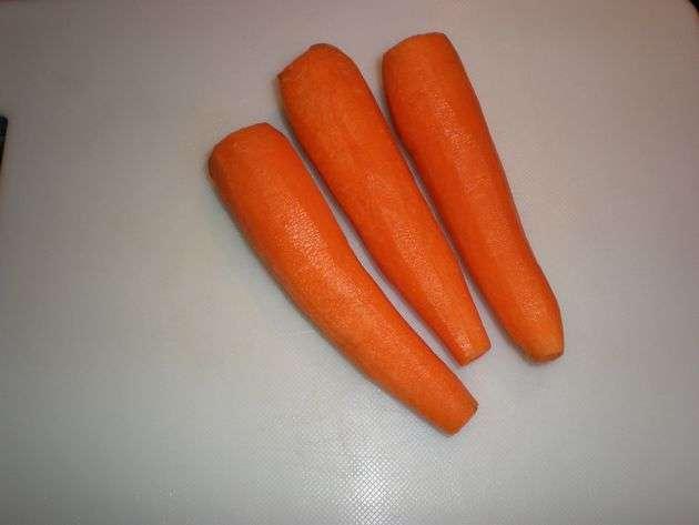 Zanahorias limpias