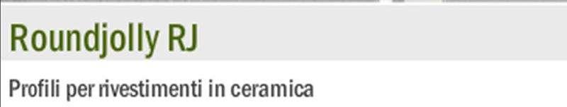 Profilo per rivestimenti in ceramica round jolly pvc - Profili jolly per piastrelle ...