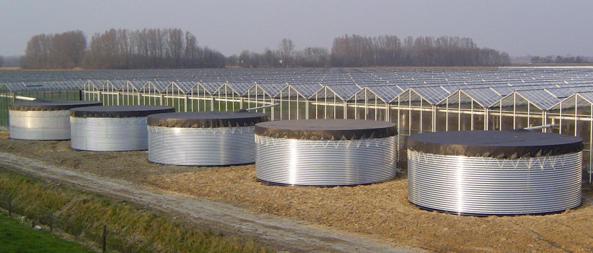 Cuve de stockage eau water tank 647 m3 panneau acier - Cuve stockage eau potable ...