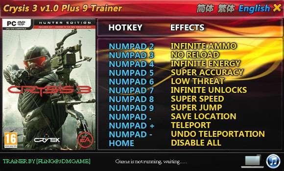 Crysis 3 +9 Trainer [FliNG]